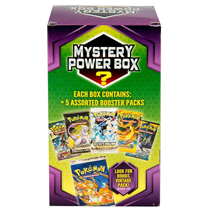 Super Amazon.com: Pokemon Cards Mystery Power Box 5-5 Booster Pack: Toys CI35