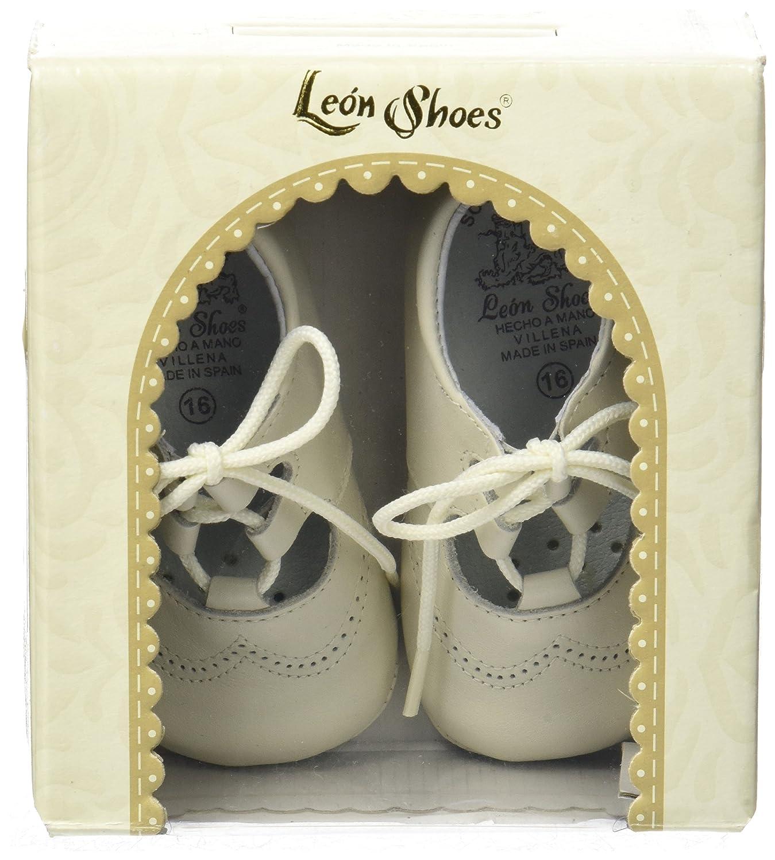 Leon Shoes Peuque Ingles, Botas Unisex bebé, (Beige), 18 EU ...