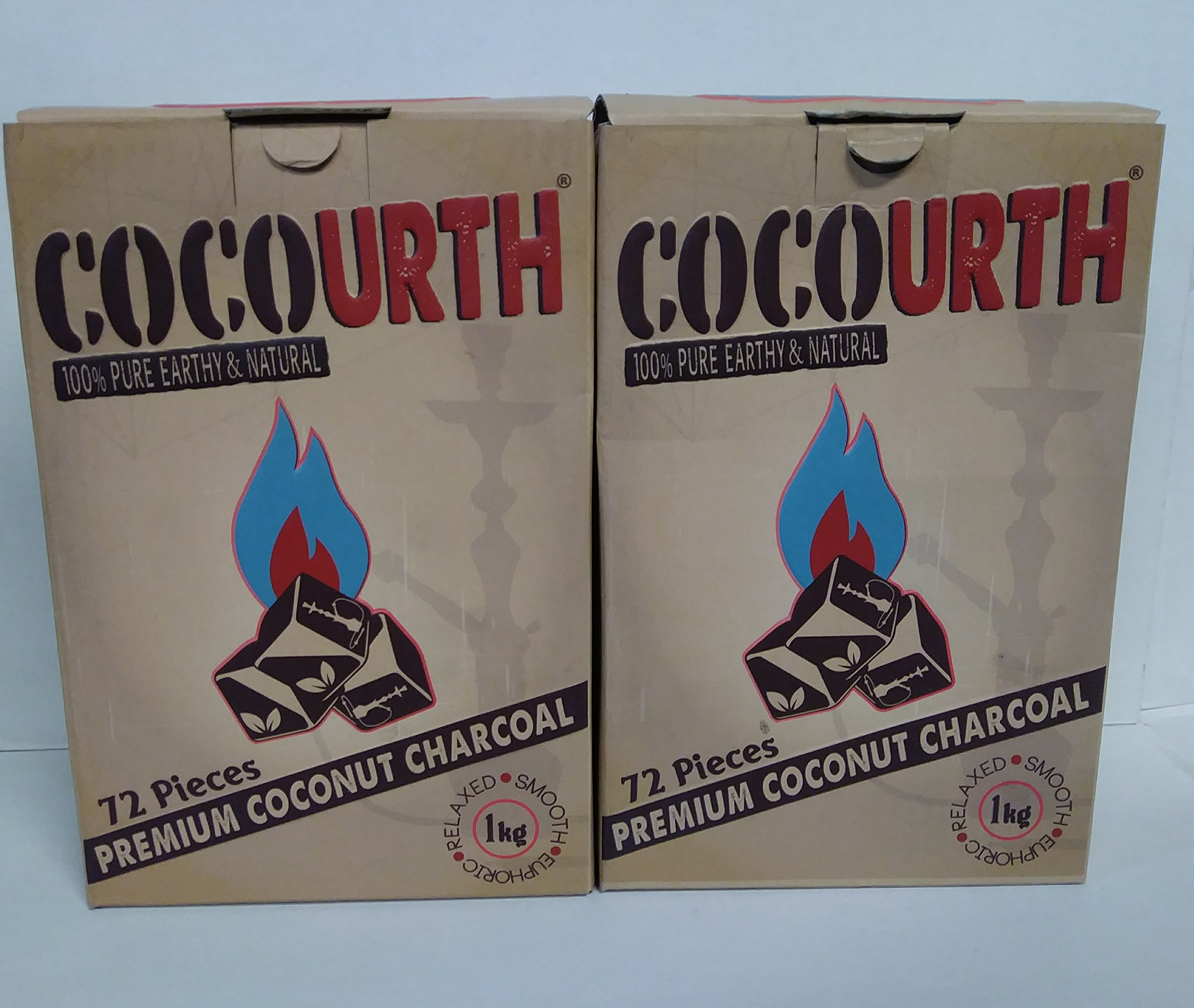 2 Boxes of Cubes (25x25x25 MMS) Coconut Shell charcoals (100% Natural) 72 Pieces Inside Each Box by Goldfinch