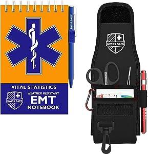 Bundle & Save: EMT Holster for EMT Vital Notebook (3-Pack) + Bonus First Aid Items