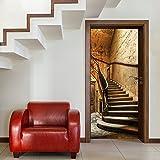 murimage Fotomurales,Antique Stairs TT4' 86cm x 200cm Escalera escalón Puerta Puerta Papel Pintado Fotomural