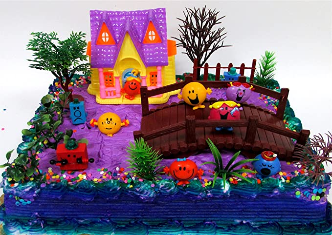 Amazon 16 Piece Mr Men And Little Miss Themed Birthday Cake