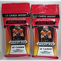 $39 » Pair 2021 Panini Prizm Draft Football Cello Value Packs 15 Cards Per Pack (30 Cards Total) Red White Blue Prizms
