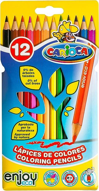 Carioca - Caja con 12 ecolápices (A52650012): Amazon.es: Juguetes y juegos