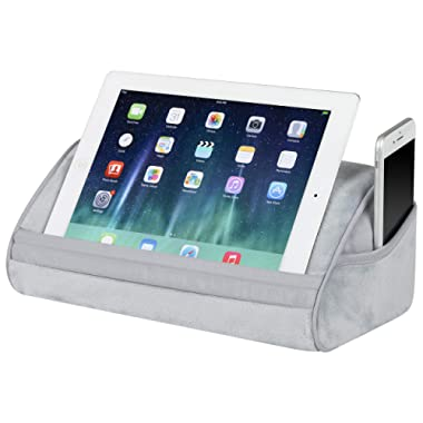 LapGear Original Tablet Pillow/Tablet Stand - Cool Gray (Fits Up to 10.9  Tablet) - Style #35055