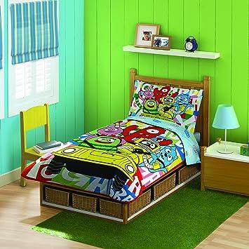 amazon com yo gabba gabba toddler bedding set discontinued by