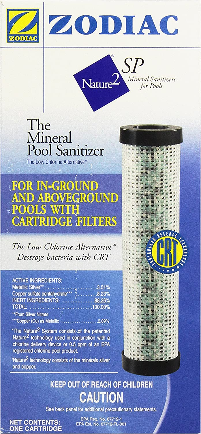 Zodiac W22476B Nature2 Swim Pure Cartridge up to 35-Gallon Pool, 4-Inch, Bulk Pack