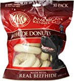 "AKC Beefhide Donuts - 10 Pack - Medium (3.5"")"