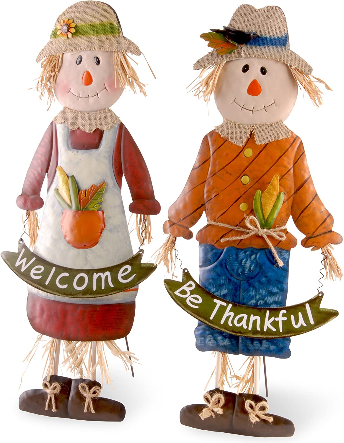 National Tree Company Autumn Décor Country Children Scarecrow Set - 27.5 Inch