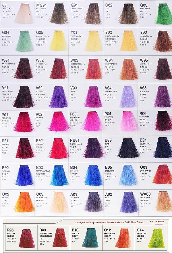 Anthocyanin Hair Manicure Color 230g (Y03 MOCHA BROWN) - Tinte de Pelo Semi Permanente - Color del Tentador - Protección UV - Proteína Vegetal