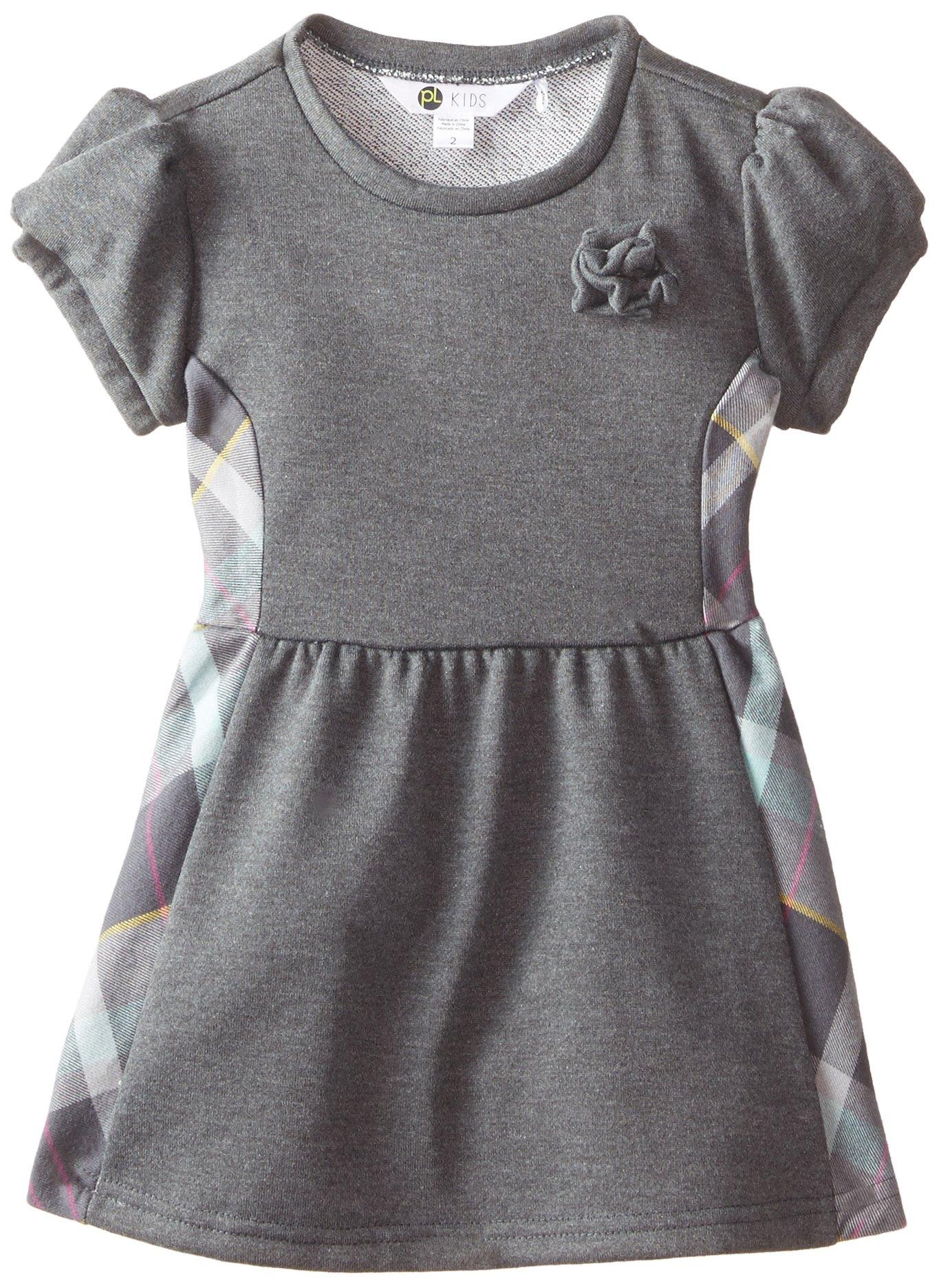 Petit Lem Little Girls' Cocooning Dress, Grey, 5 by Petit Lem