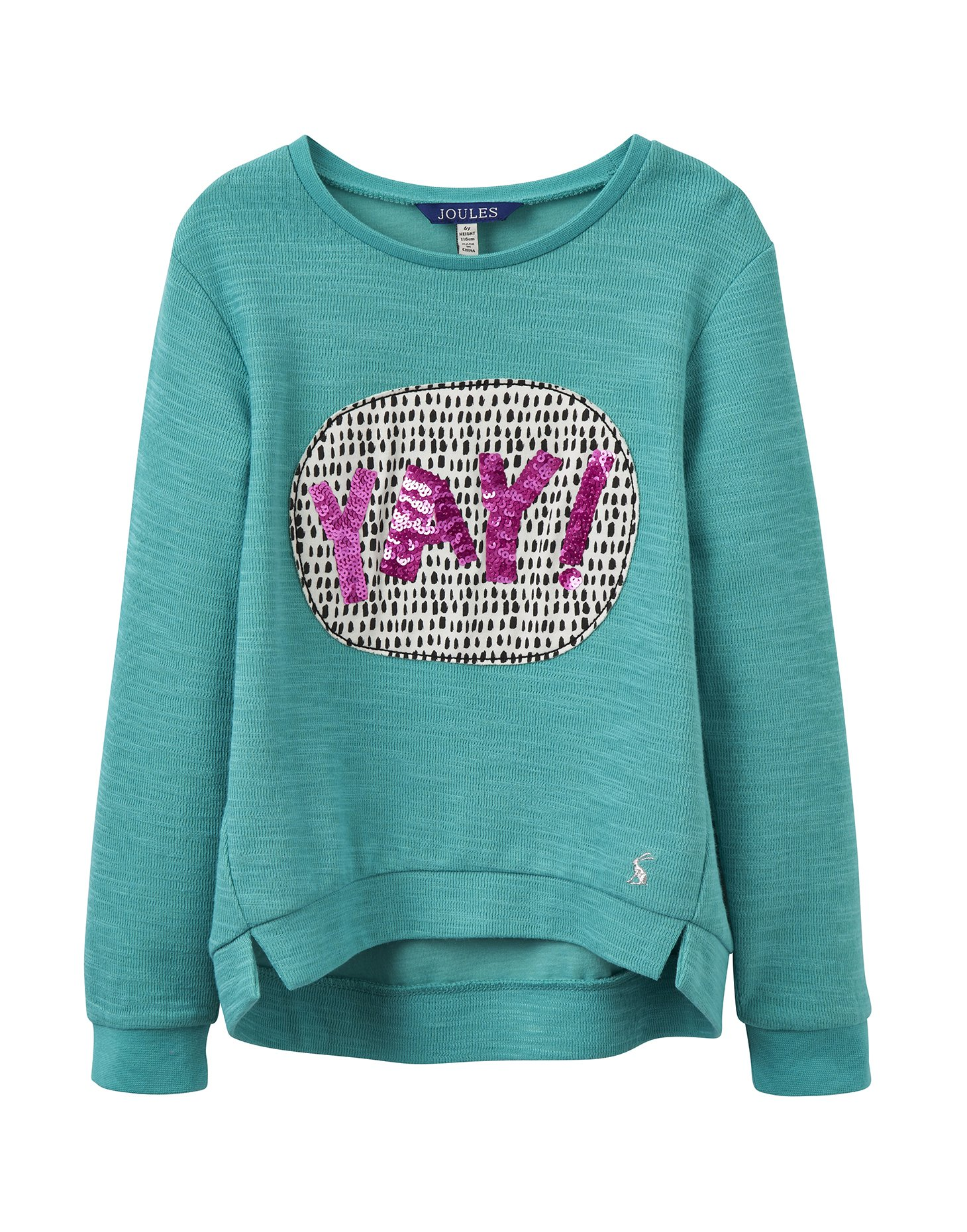 Joules Screen Print Sweatshirt - Cool Green Yay - 3 Years - 98 cm by Joules