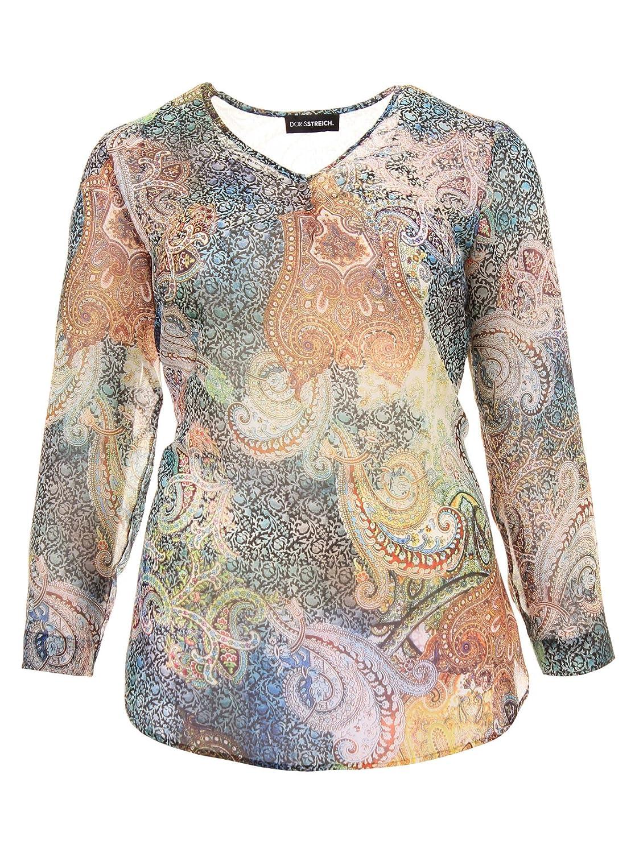Bluse mit Ethno-Muster in bunt in Übergrößen (42, 44, 46, 48, 52) von Doris Streich