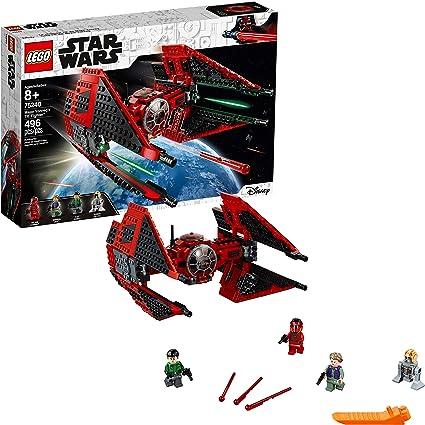 Amazon Com Lego Star Wars Resistance Major Vonreg S Tie Fighter 75240 Building Kit 496 Pieces Toys Games