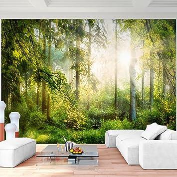Fototapete Wald 396 x 280 cm Vlies Wand Tapete Wohnzimmer ...