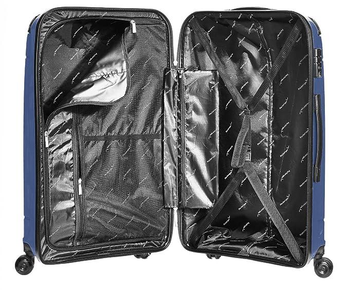 Packenger Packenger Koffer Silent Hartschale XL Equipaje de Mano, 81 cm, 109 Liters, Azul (Dunkelblau): Amazon.es: Equipaje