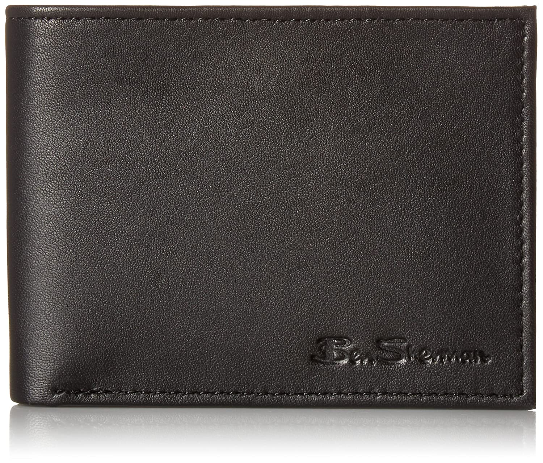 Kensington Sheepskin Leather Five Pocket Billfold Wallet With ID Window With RFID Black 16015C