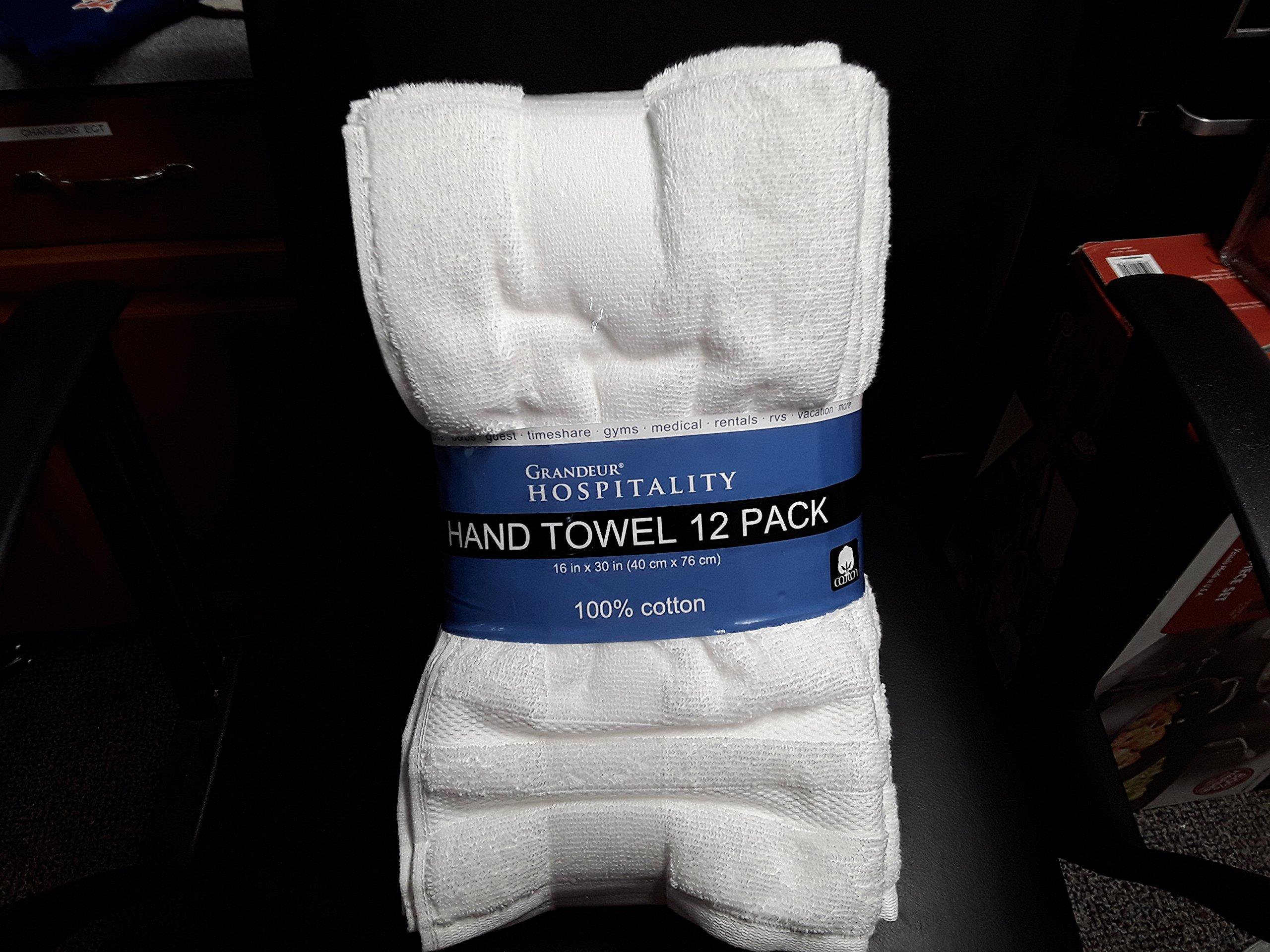 Grandeur Hospitality Hand Towel 12 Pack