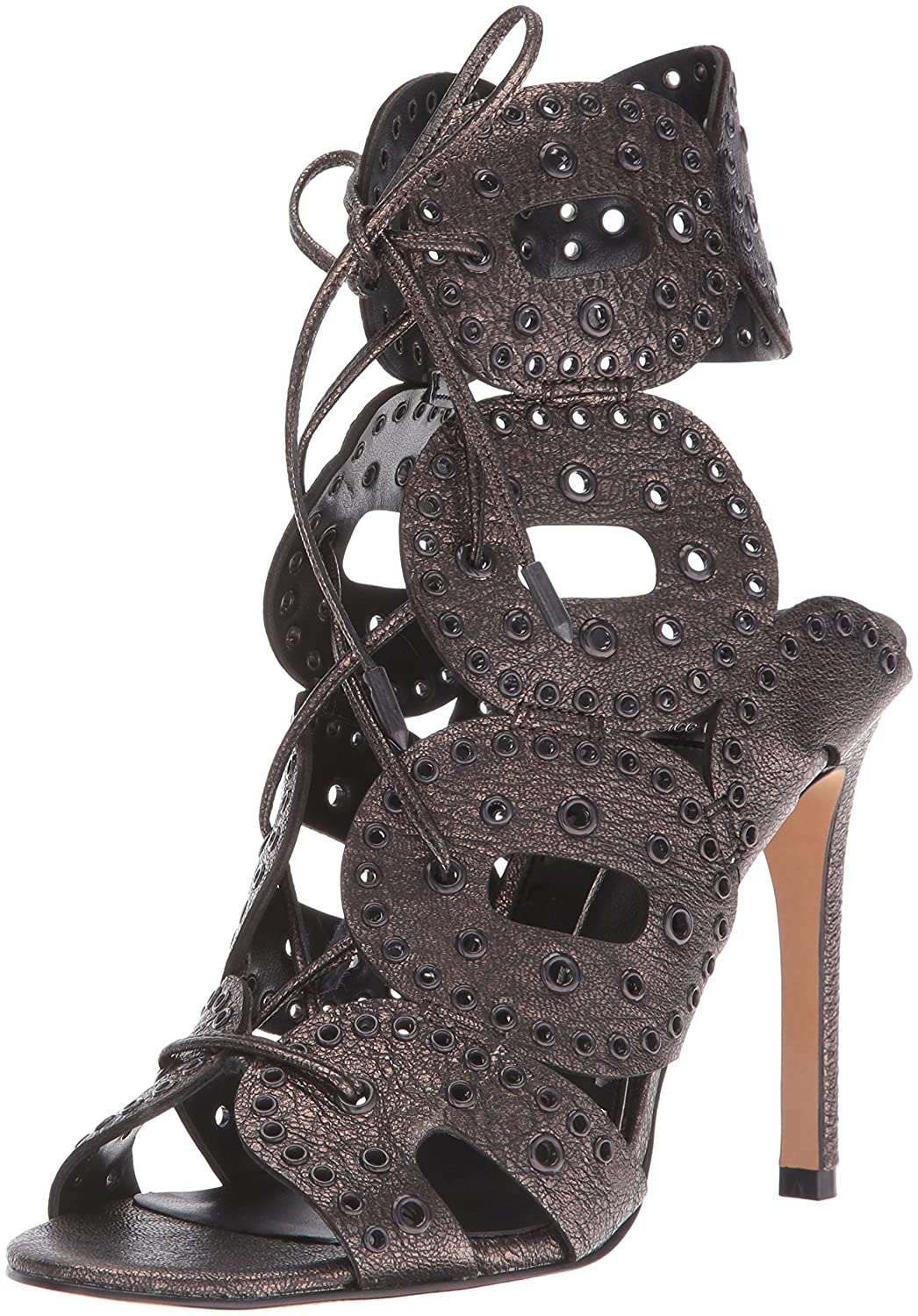 Dolce Vita Womens Haylie Dress Sandal Gunmetal Size 85