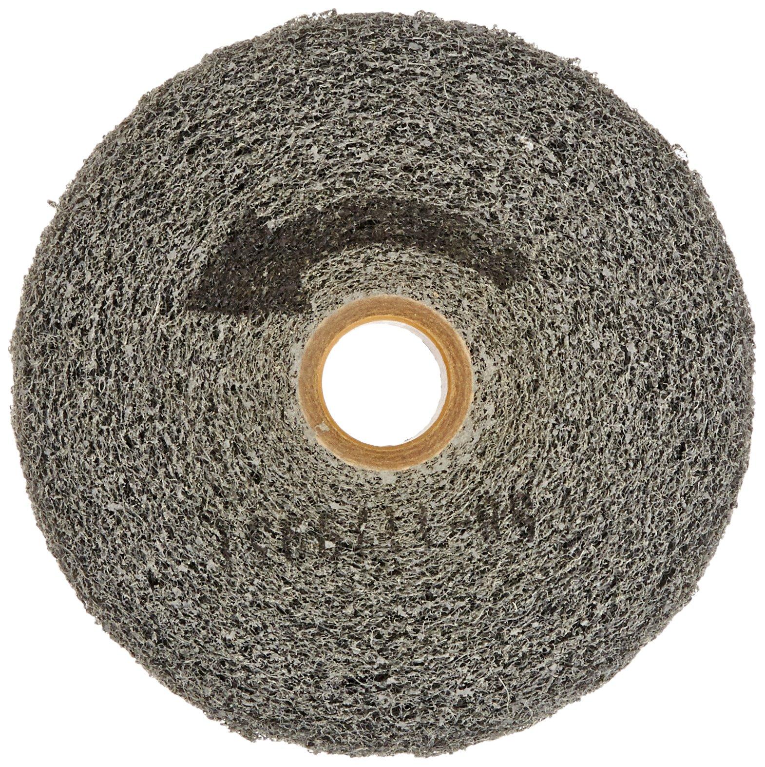 Norton Bear-Tex Clean and Finish Convolute Nonwoven Abrasive Wheel, Silicon Carbide, 6'' Diameter x 1'' Thickness, Grit Fine