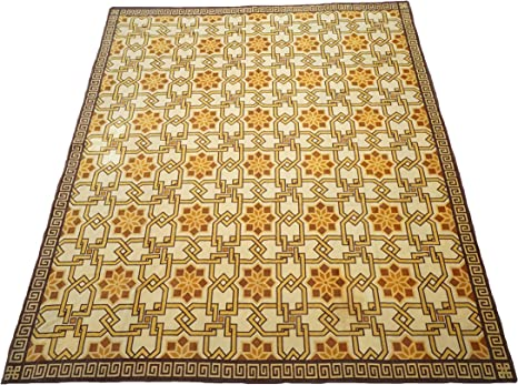 Amazon Com 12x14 Fine Tibetan Area Rug Oversize Oriental Wool Carpet Made In Tibet 11 7 X 13 8 Kitchen Dining