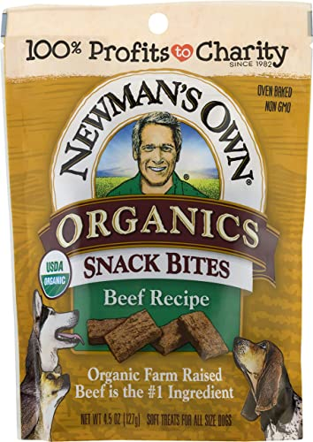 Newman's Own Organics Snack Bites for Dogs, 4.5-oz. Pack of 8