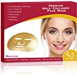 iBeautyLabs Collagen Face Mask (5PK) (Gold Collagen Mask)