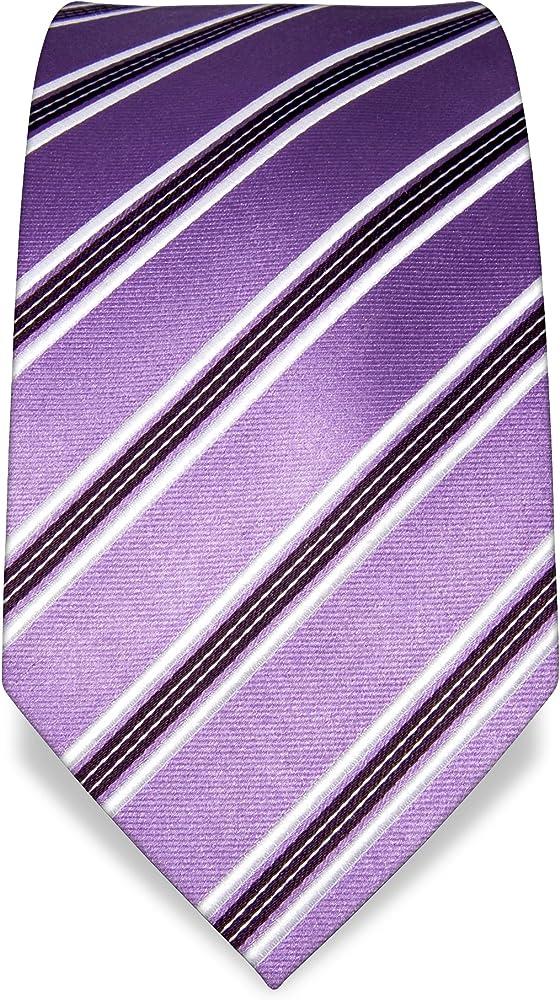 VB – Corbata Azul, Morado, Blanco, rayas), color violeta oscuro: Amazon.es: Ropa y accesorios