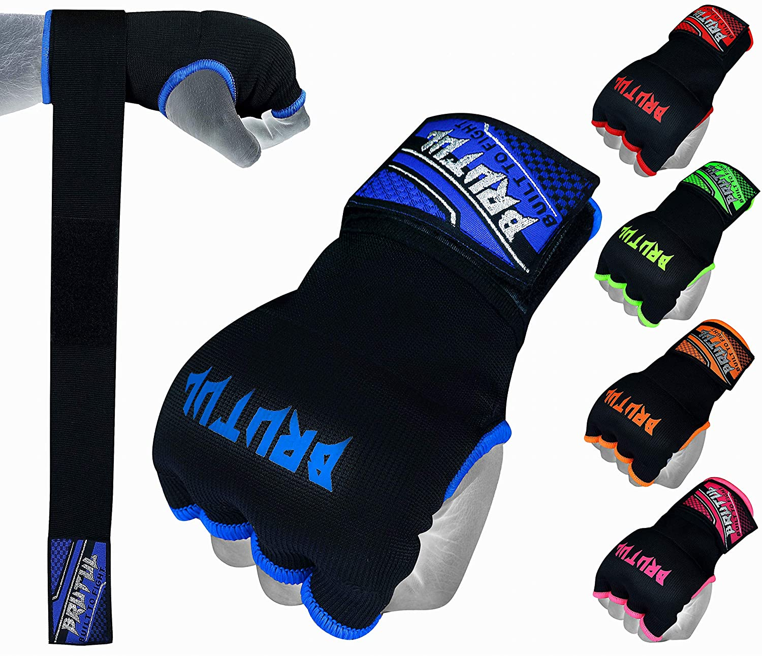 kids gel Quick wrap Hand Wrap Blue GEL Padded inner boxing glove MMA Adult