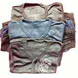 BabyBlossom Baby Boy's & Baby Girl's Front Open Thermal Top & Pyjama Set (Dark Colour, 0-3 Months) - Pack of 3
