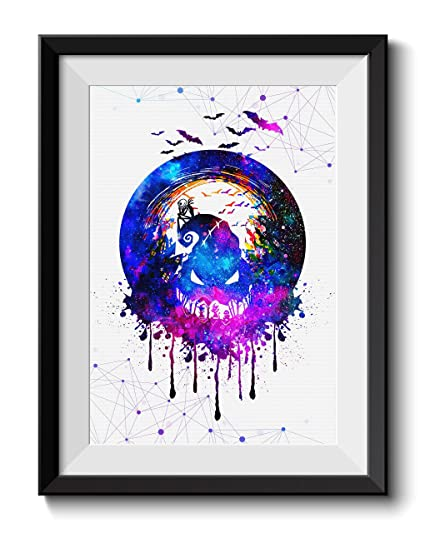 Nightmare Before Christmas Illustration.Uhomate Jack And Sally Nightmare Before Christmas Home Canvas Prints Wall Art Anniversary Gifts Baby Gift Inspirational Quotes Wall Decor Living Room