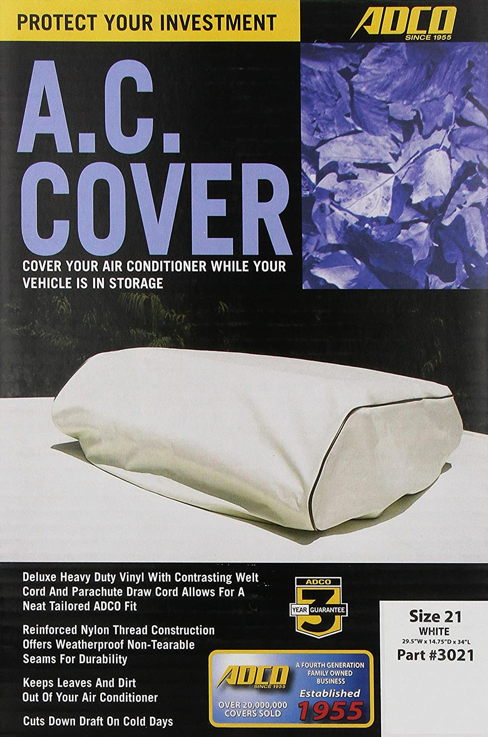 amazon com adco 3021 white rv air conditioner cover automotive