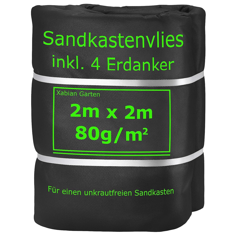 Xabian Sandkastenvlies 2m X 2m Schwarz 80g M I Schutzvlies