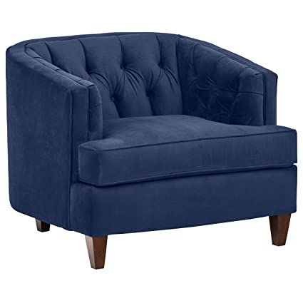Stone U0026 Beam Leila Velvet Tufted Chair, 44u0026quot; ...