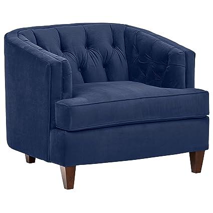 d5e0db414c0d8 Amazon.com  Stone   Beam Leila Velvet Tufted Chair