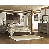 porter bedroom set. Juararoy Casual Dark Brown Color Replicated rough sawn oak Bed Room Set  Queen Panel Amazon com Ashley Porter King in Vintage Rustic