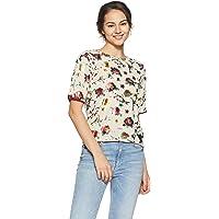 DJ&C By FBB Women's Floral Regular Fit T-Shirt