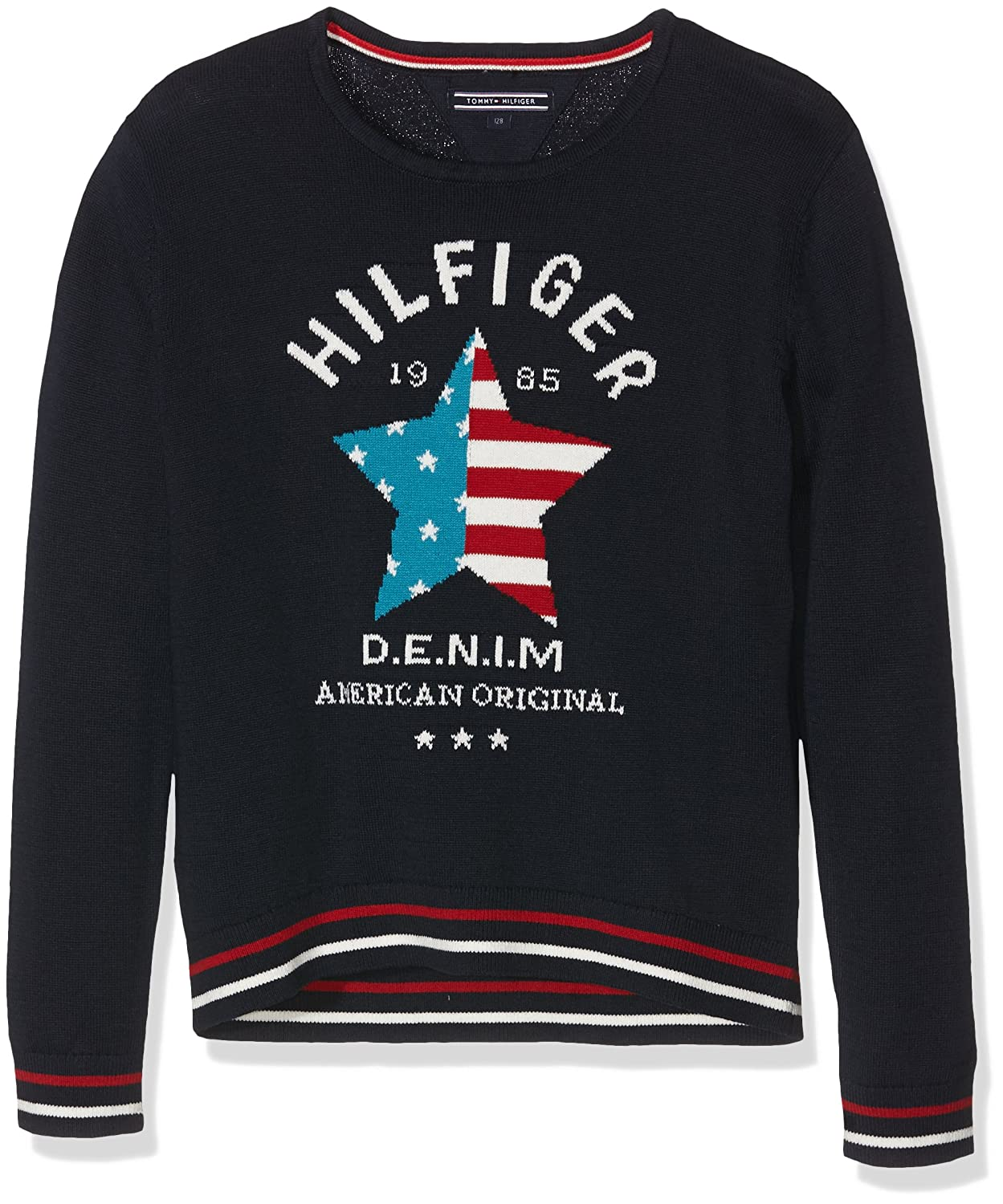 Tommy Hilfiger Mädchen Pullover Iconic Cn Sweater L/s