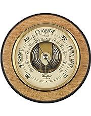Woodford Wooden Round Barometer - modern design - 7 inch diameter -