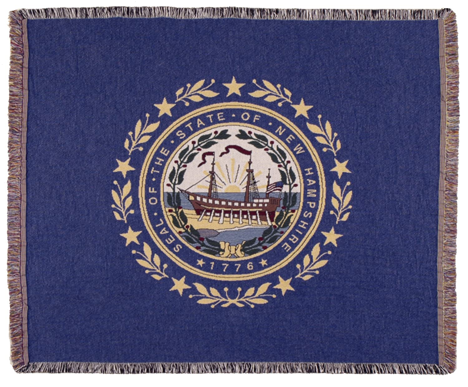 LoomHome Flag of New Hampshire Tapestry Throw