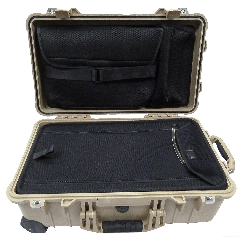 デザートタンPelican 1510locケース。コンピュータ蓋ポーチ& Luggage下部。 B01N05UZ05