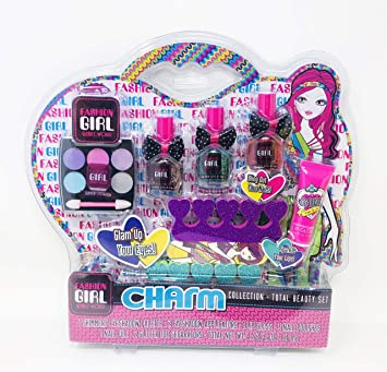 2c97404349d7 Coo11 Girls' Glitter Sparkle Make Up Glam Kit Stylish Beauty Fashion Nail  Salon Make Up