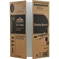 Elmer's Corrugated Tri-fold Display Board, 40 X 28 Inches, White Inside/Kraft Outside, 12-Pack (730221) White/Kraft