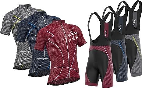 "FDX /""Classic II/"" Mens Cycling Jersey Bicycle Shorts Padded Bib Shorts Racing Kit"