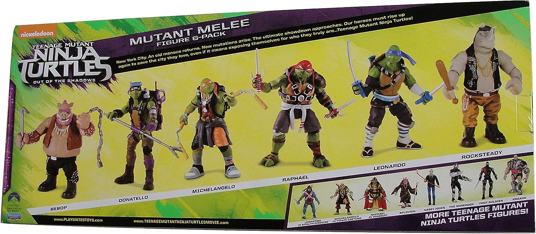 Teenage Mutant Ninja Turtles Out of the Shadows Mutant Melee Exclusive 4 Action Figure 6-Pack [Bebop, Donatello, Michelangelo, R