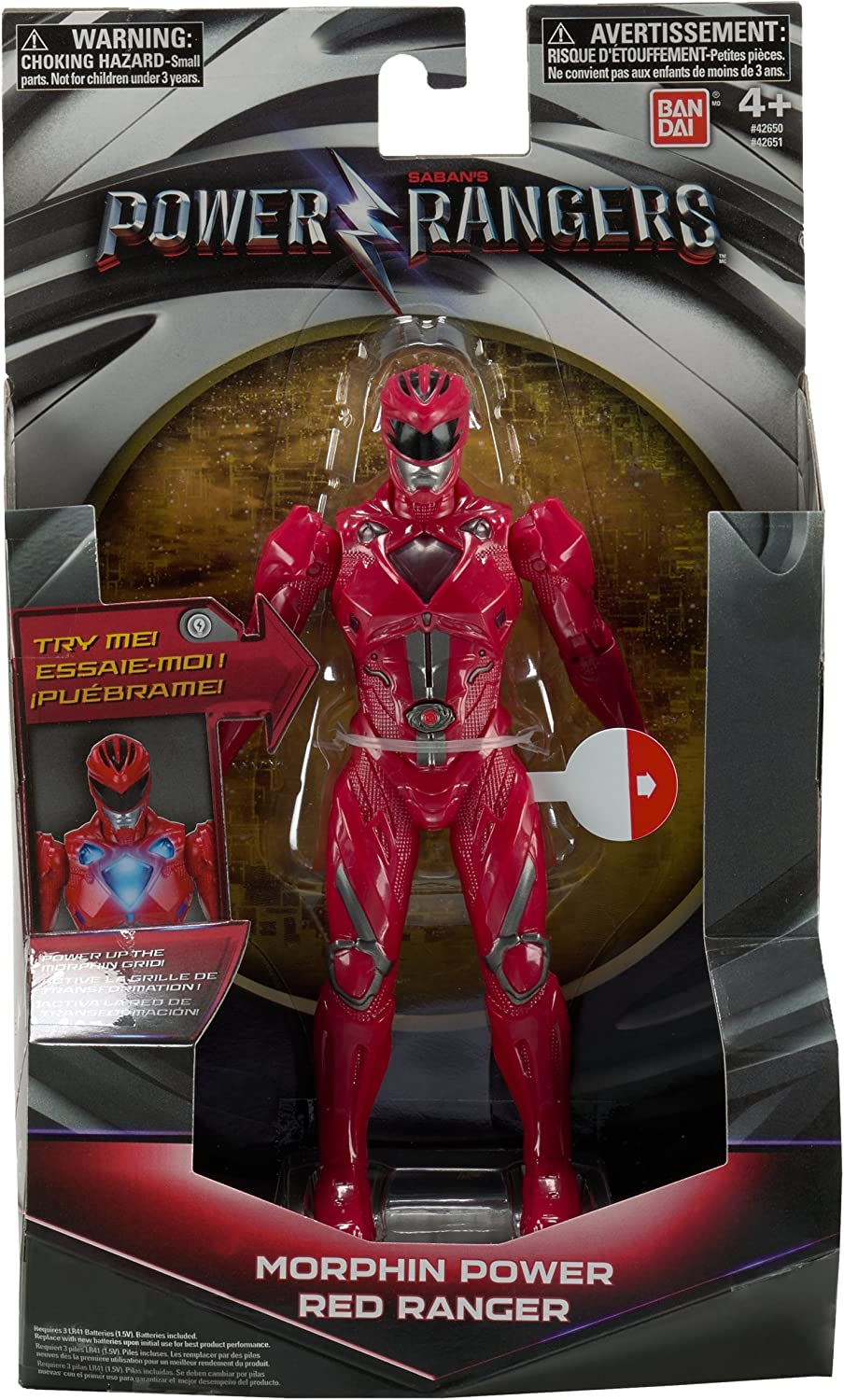 Power Rangers Mighty Morphin Movie - Morphin FX Red Ranger Figure