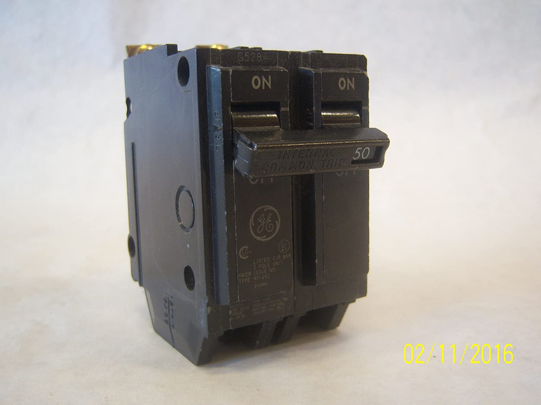 GE THQB2150 Bolt-On Mount Type THQB Miniature Circuit Breaker 2-Pole 50 Amp 120/240 Volt AC