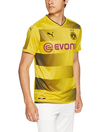 Puma Mens Official Bvb Dortmund T-Shirt Yellow Size M