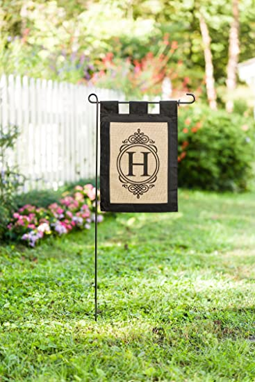 burlap garden flag. Evergreen \u201cH\u201d Monogram Double-Sided Burlap Garden Flag - 12.5\u201dW X H