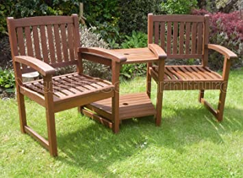 henley hardwood garden bench companion set love seat great outdoor furniture for your garden or patio